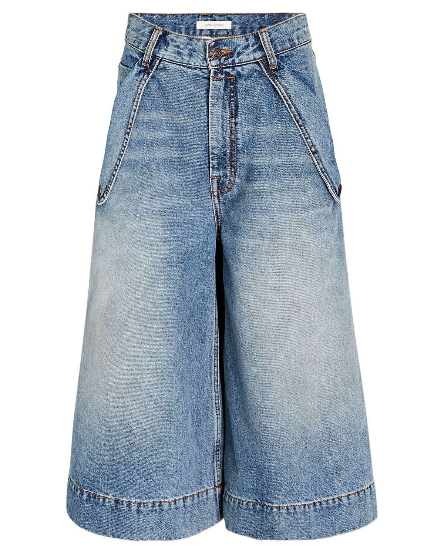 zimmermann vintage stone denim bermuda shorts