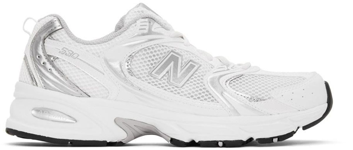 new balance white 530 sneakers