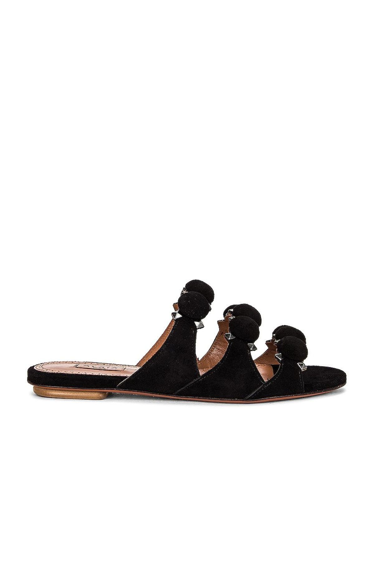 alaia leather bombe sandals