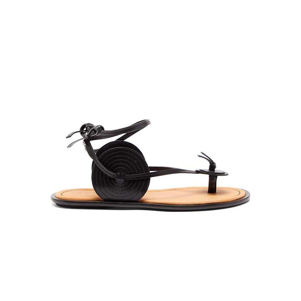 loewe disc wraparound leather sandals