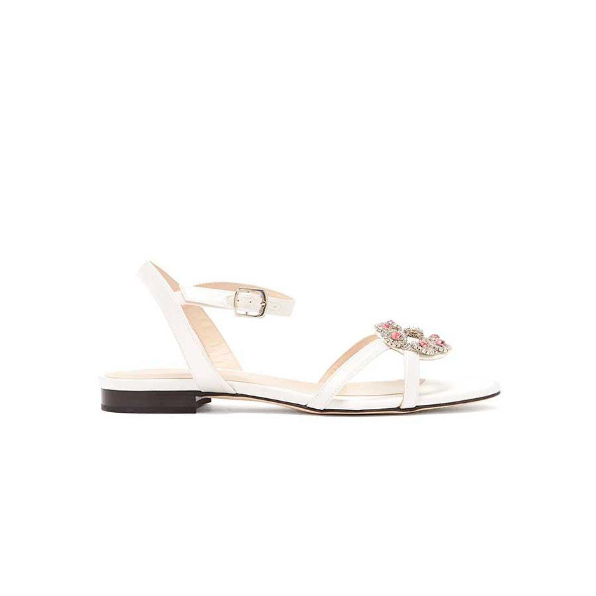 christopher kane crystal daisy cupchain satin sandals