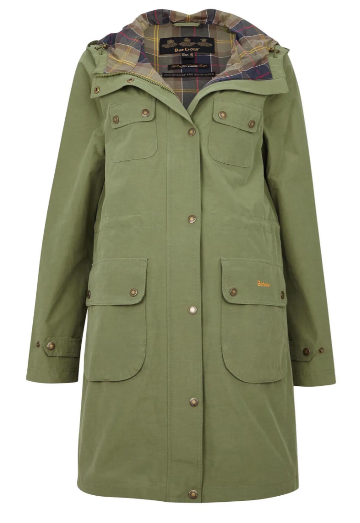 barbour idris waterproof hooded raincoat