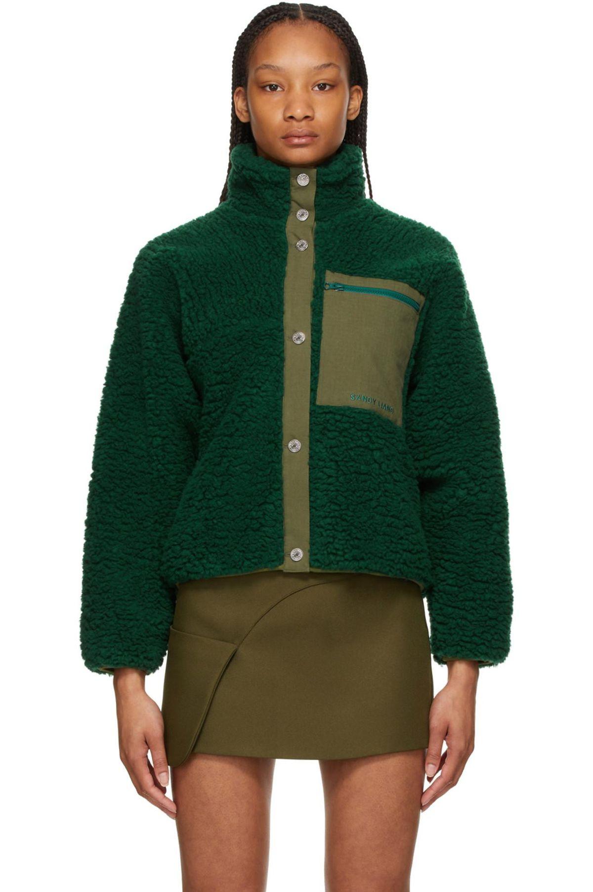 sandy liang fleece jansport jacket