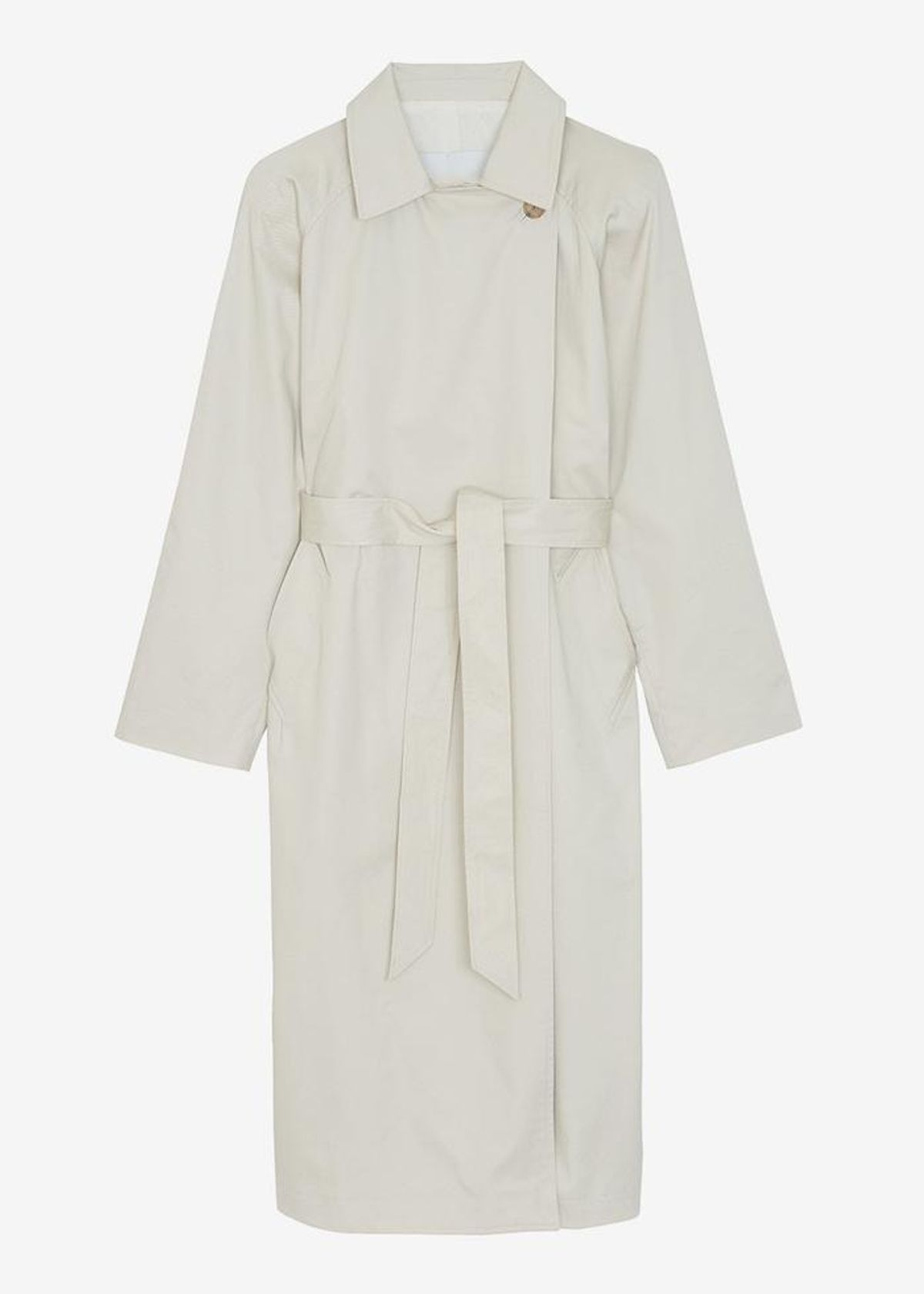 the frankie shop woven box shoulder trench