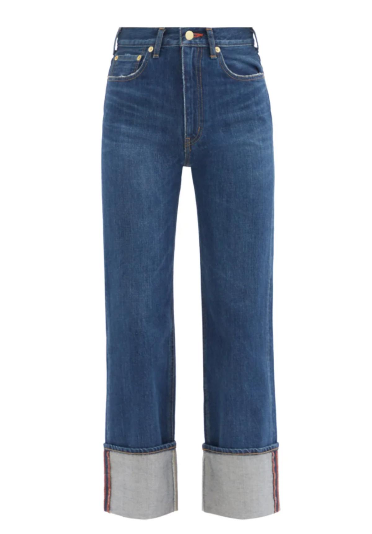 tu es mon tresor carnelian high rise turn up jeans