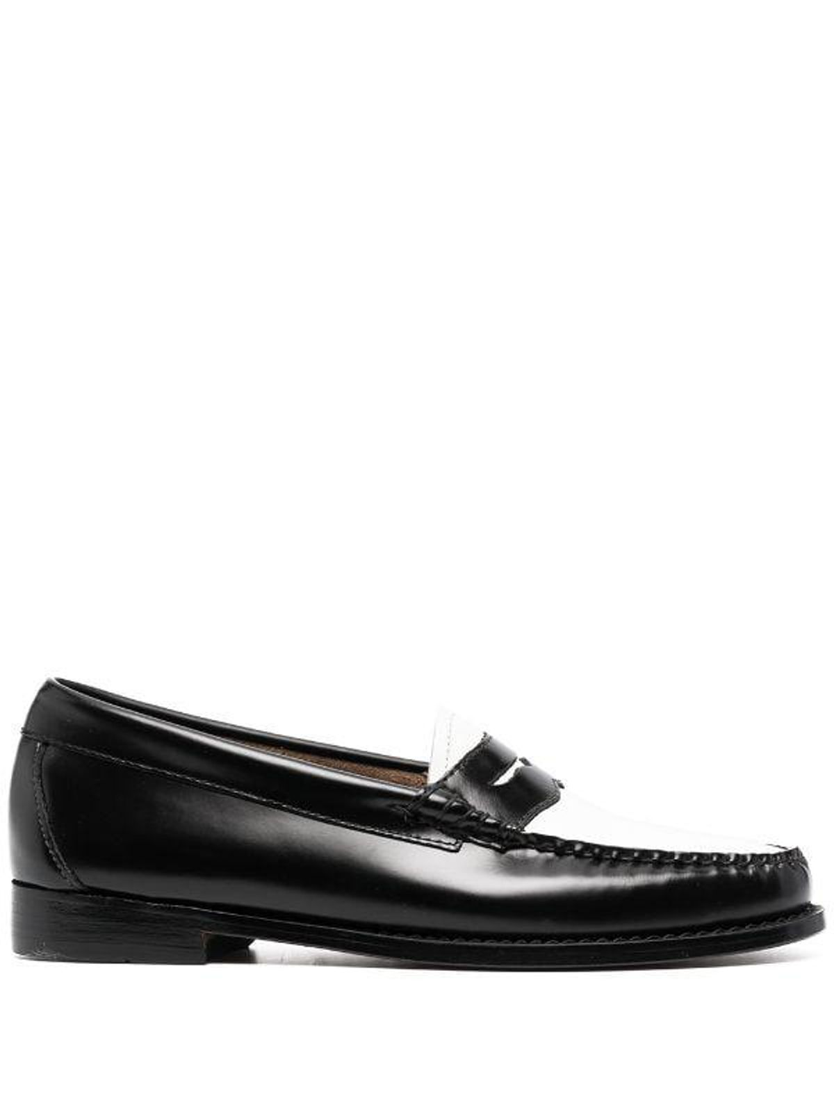 gh bass and co colour block penny loafers