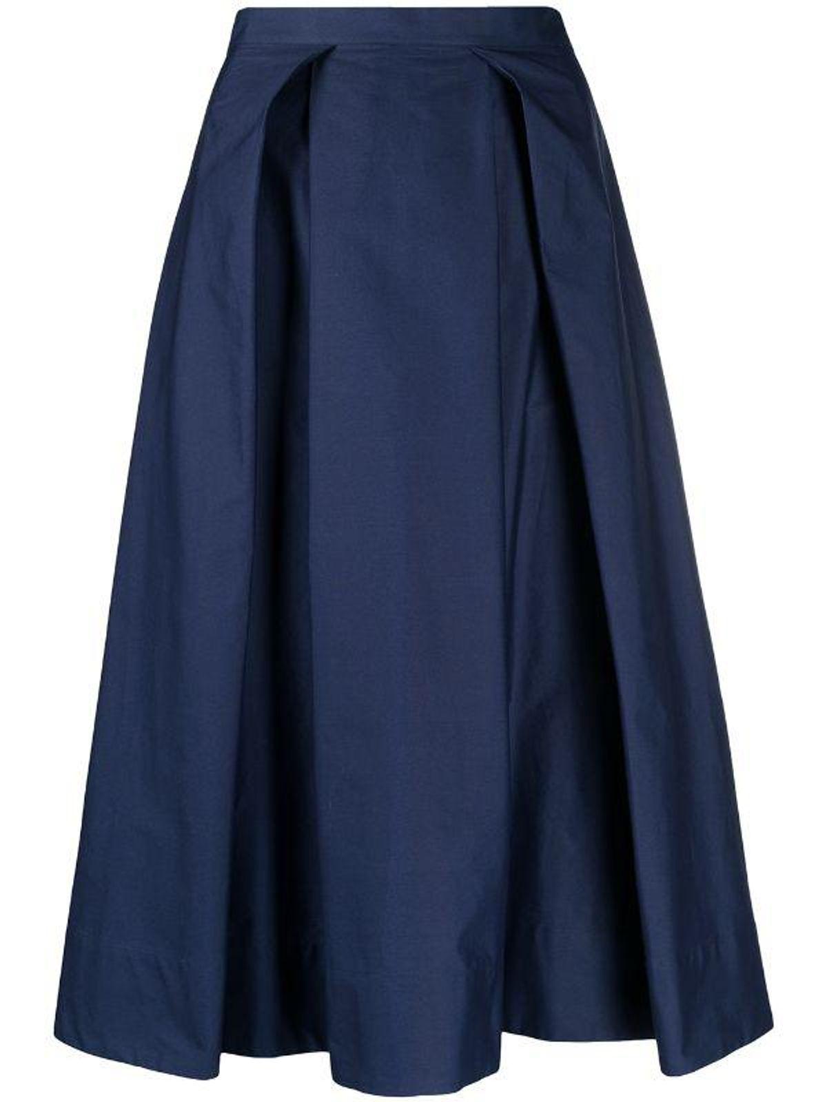 marni pleated mid length skirt