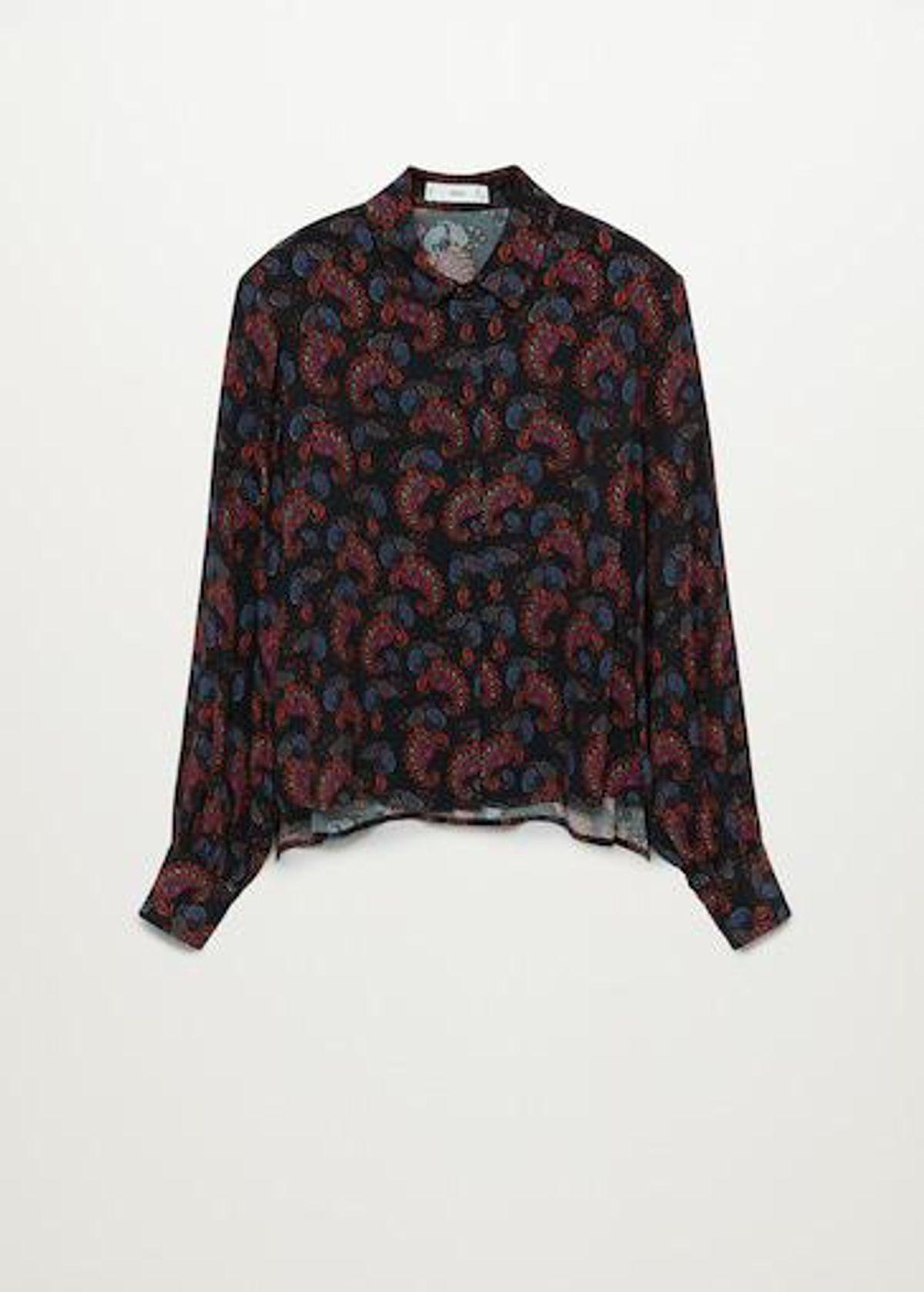 mango paisley print shirt