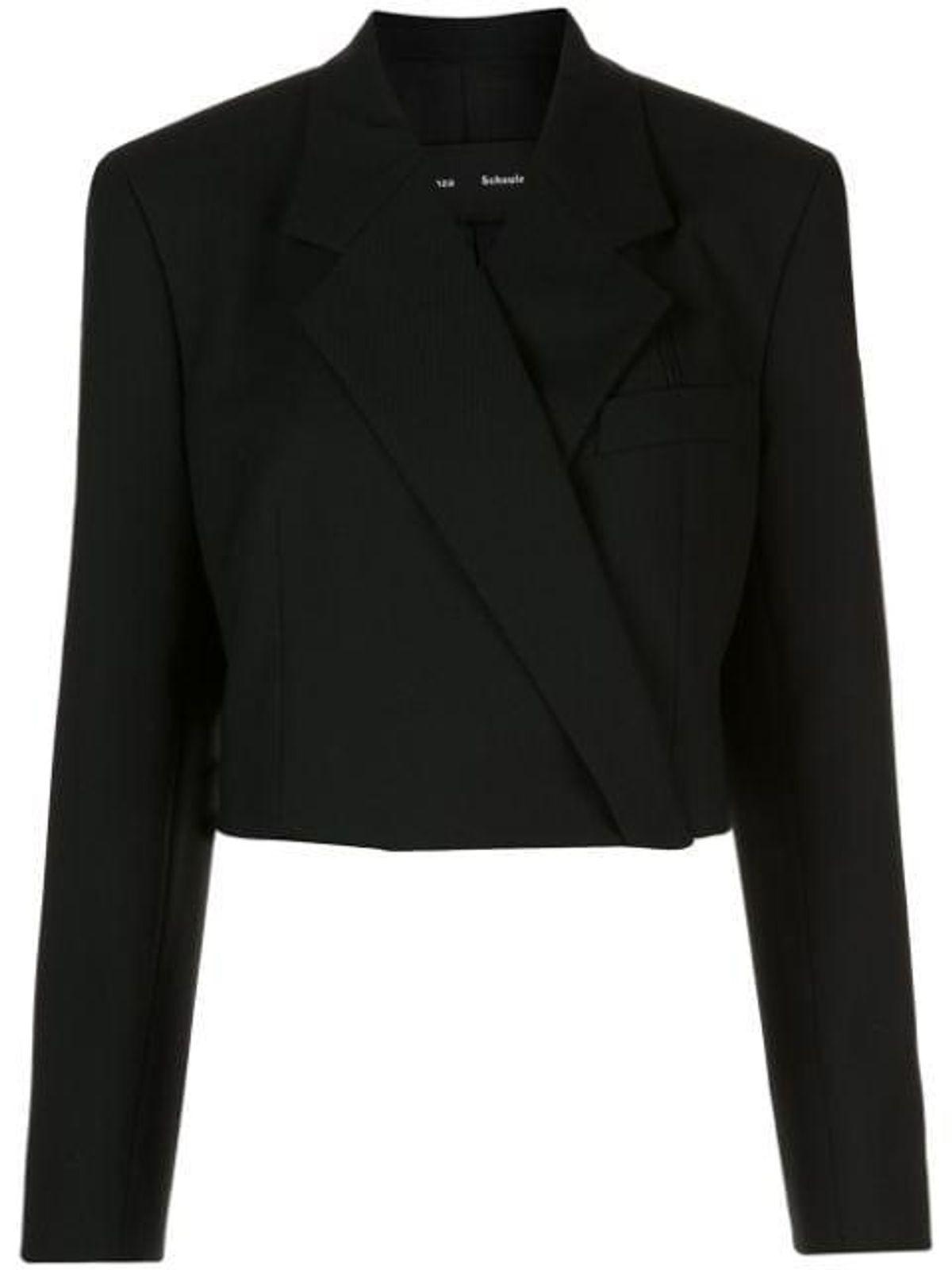 proenza schouler button front cropped blazer
