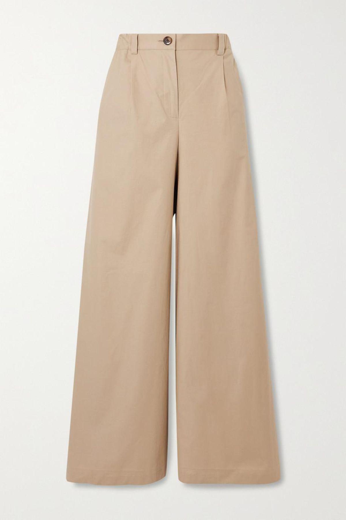 bougessa catheryn cotton blend wide leg pants
