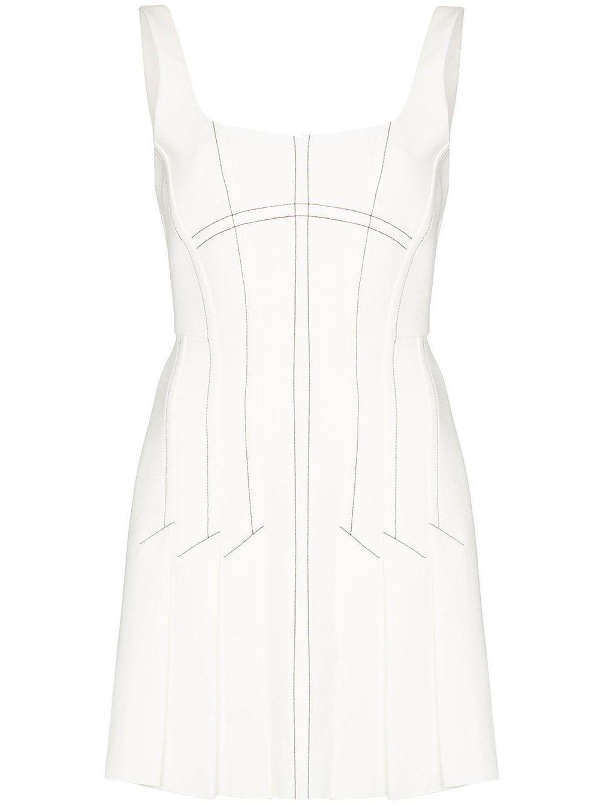 Contrast Stitching Mini Dress