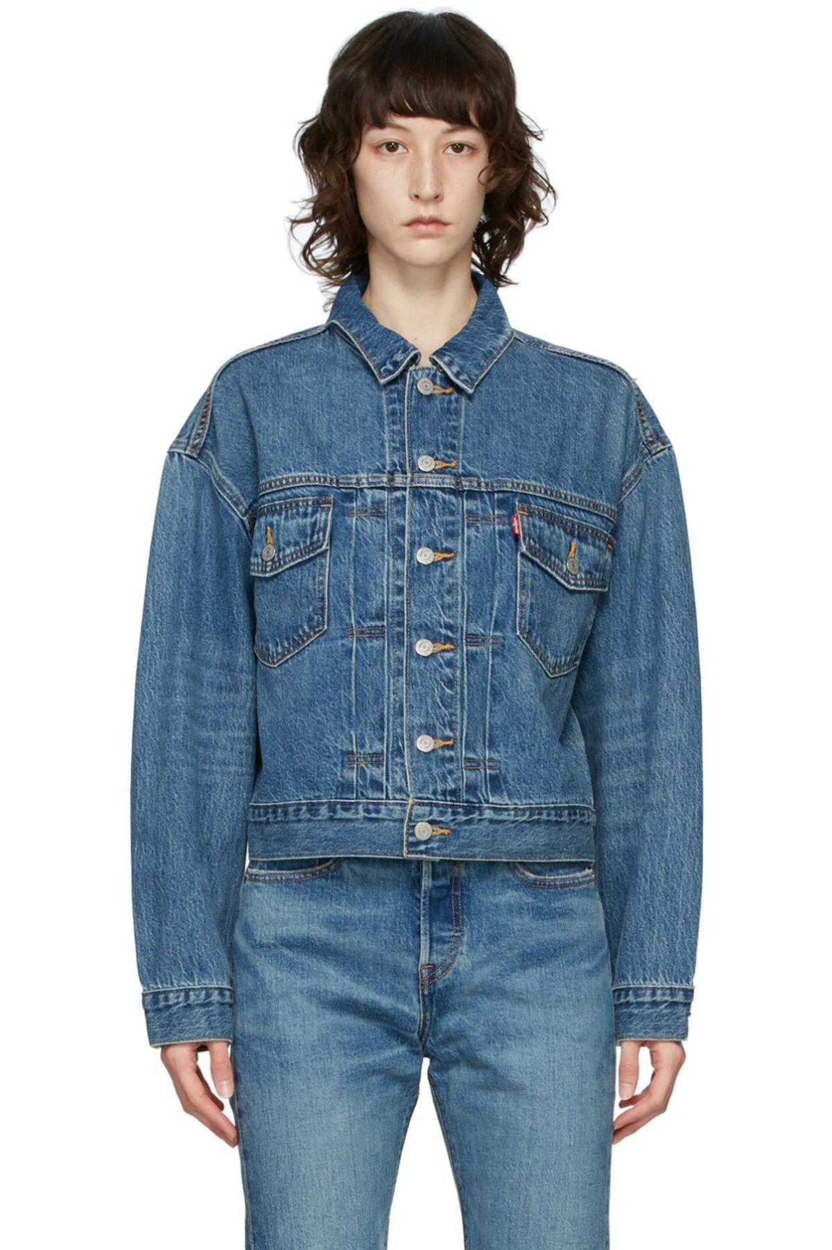 levis denim heritage fit trucker jacket