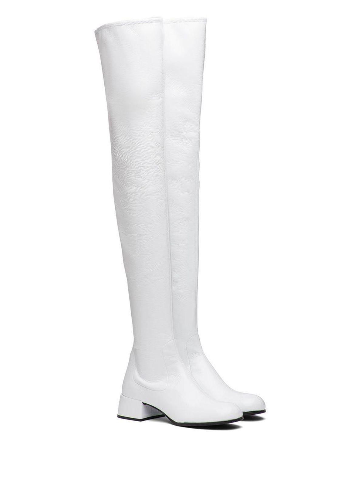 prada technical thigh high boots