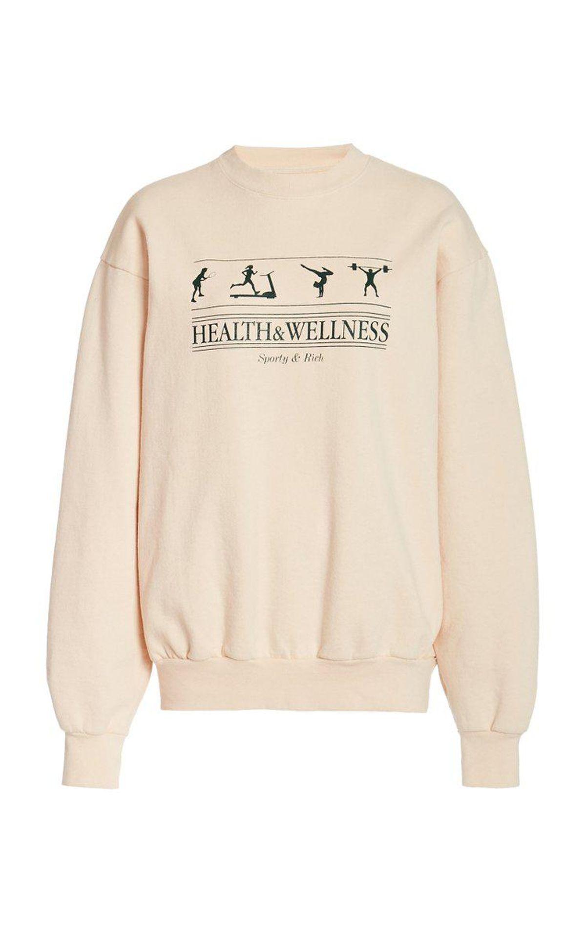 Health and Wellness Cotton Jersey Sweatshirt