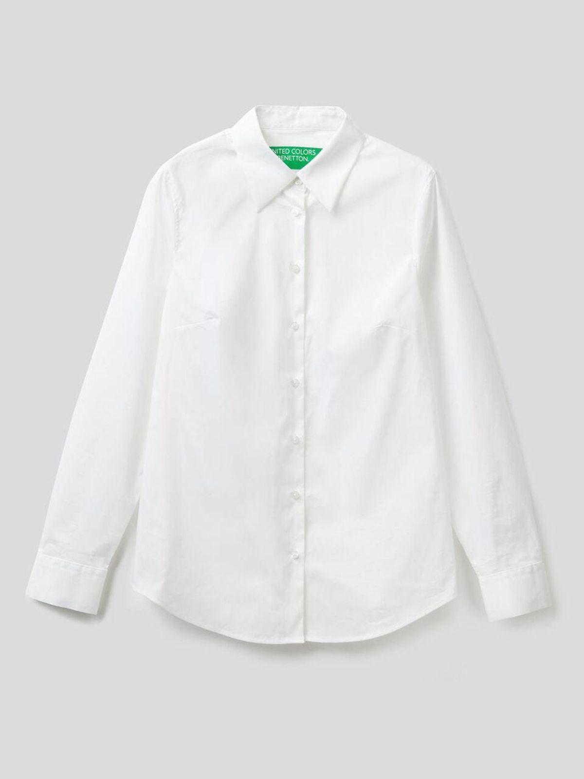 Shirt in Stretch Cotton-Blend