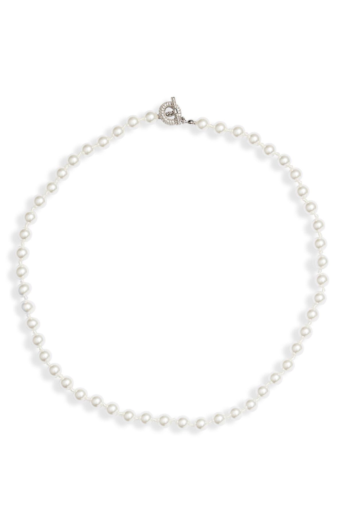 Timeless Imitation Pearl Collar Necklace