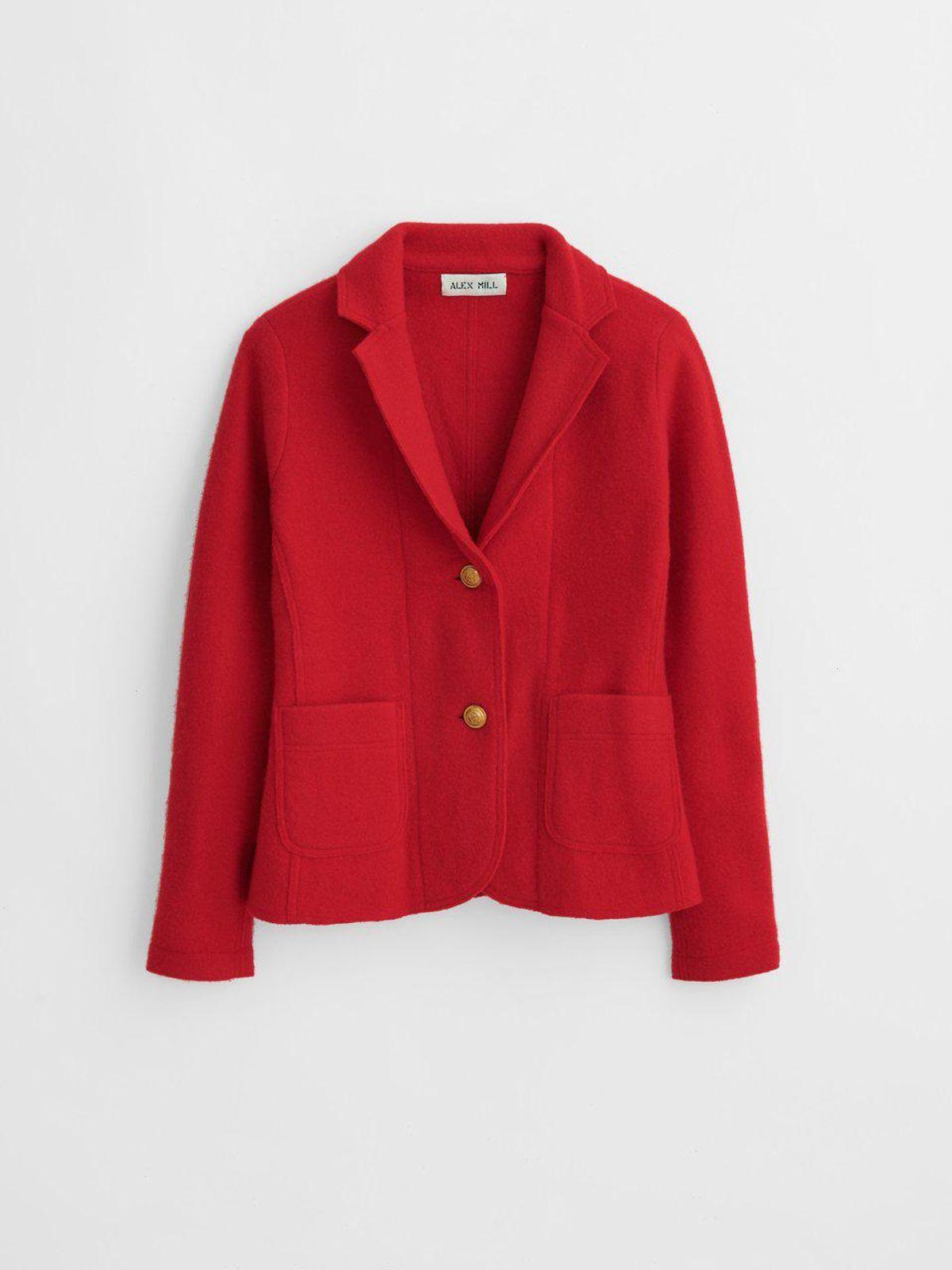 Sweater Blazer in Boiled Merino Wool