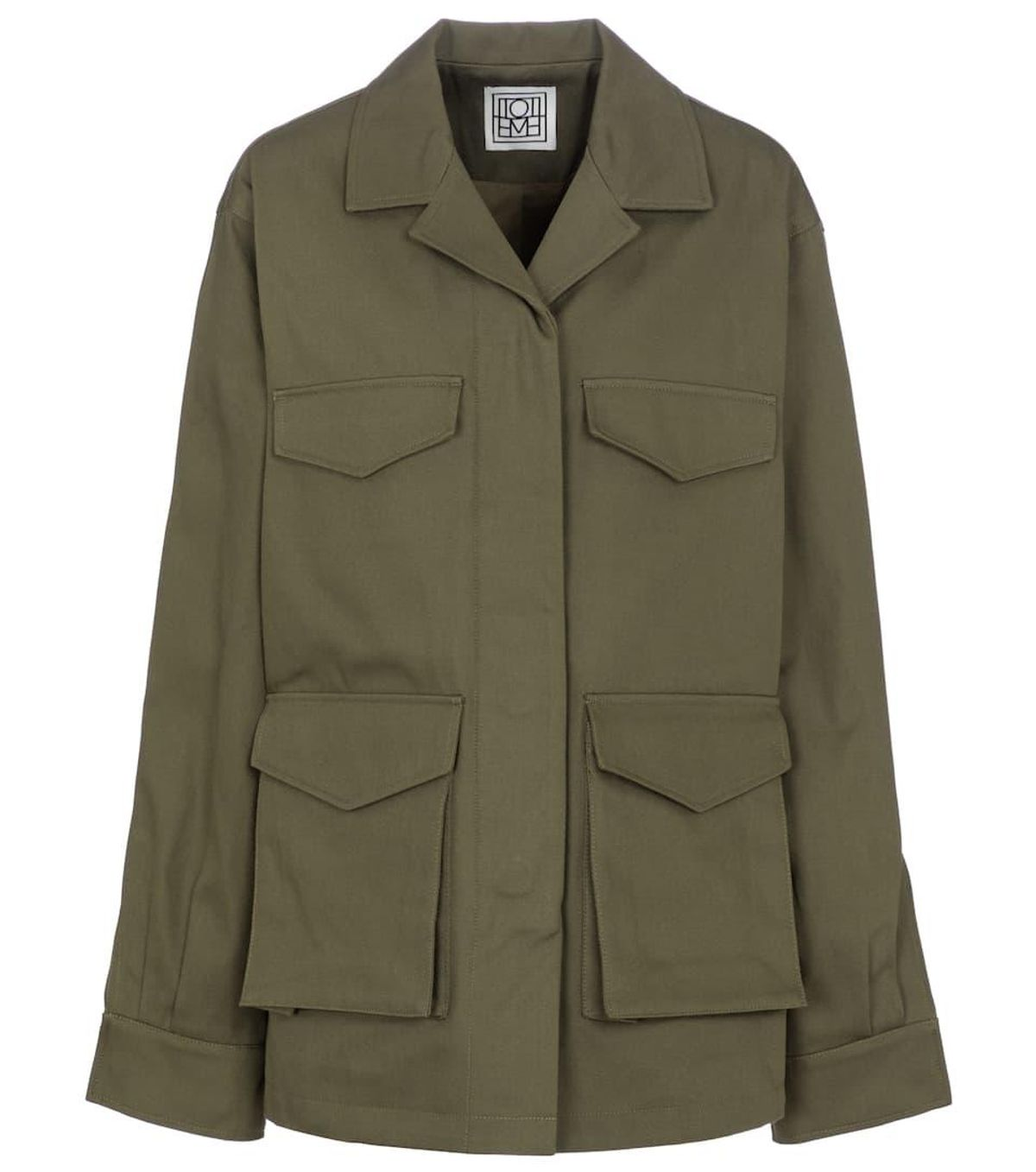 Cotton Twill Cargo Jacket
