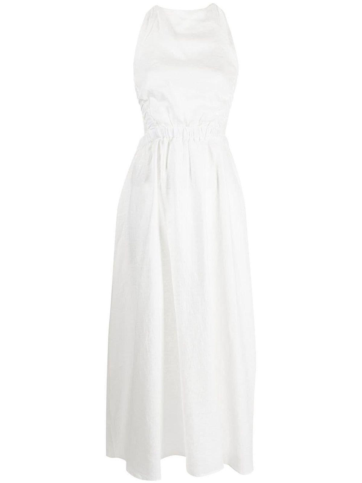 Alena Linen Maxi Dress