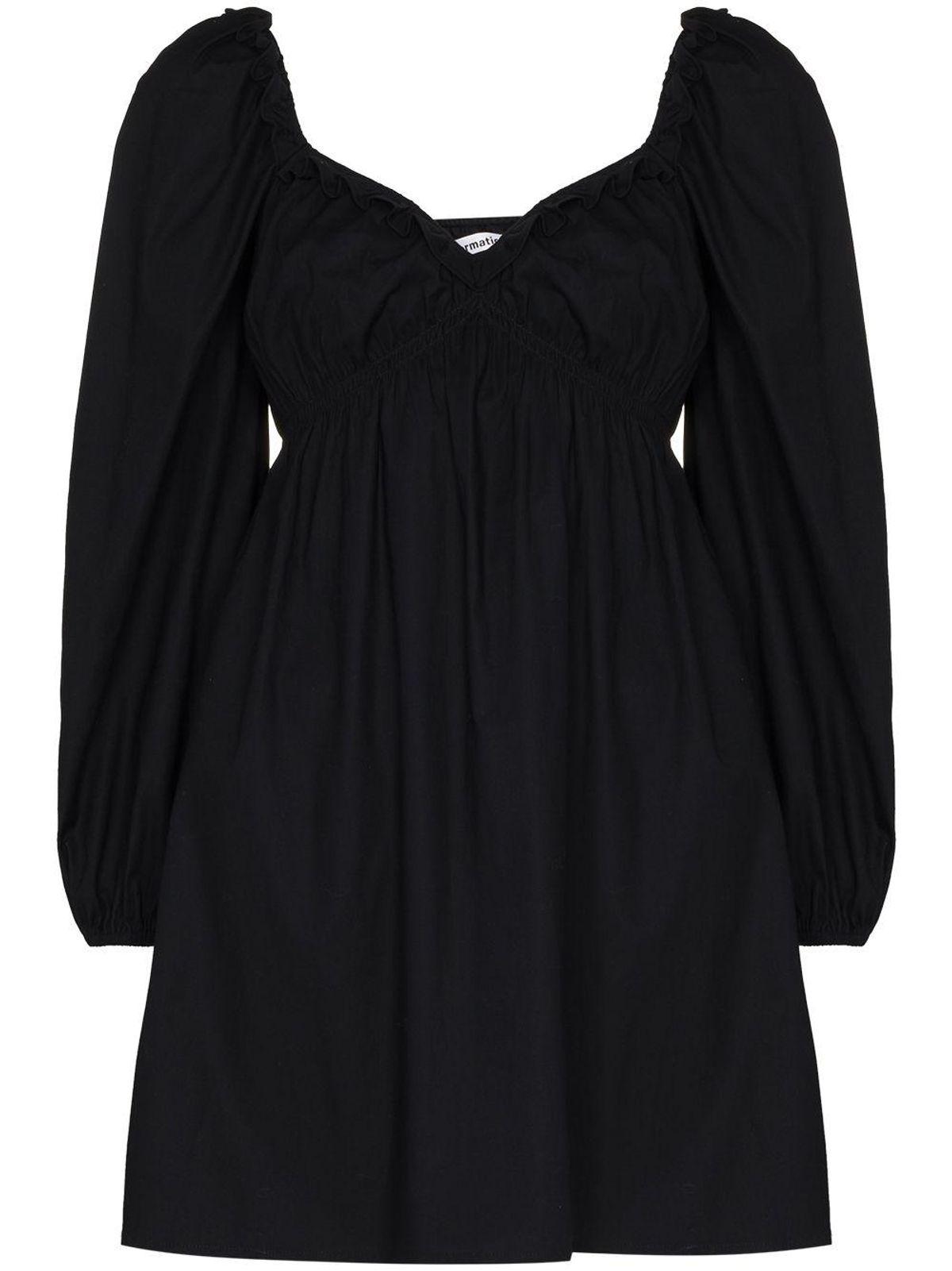 reformation vic puff sleeve minidress