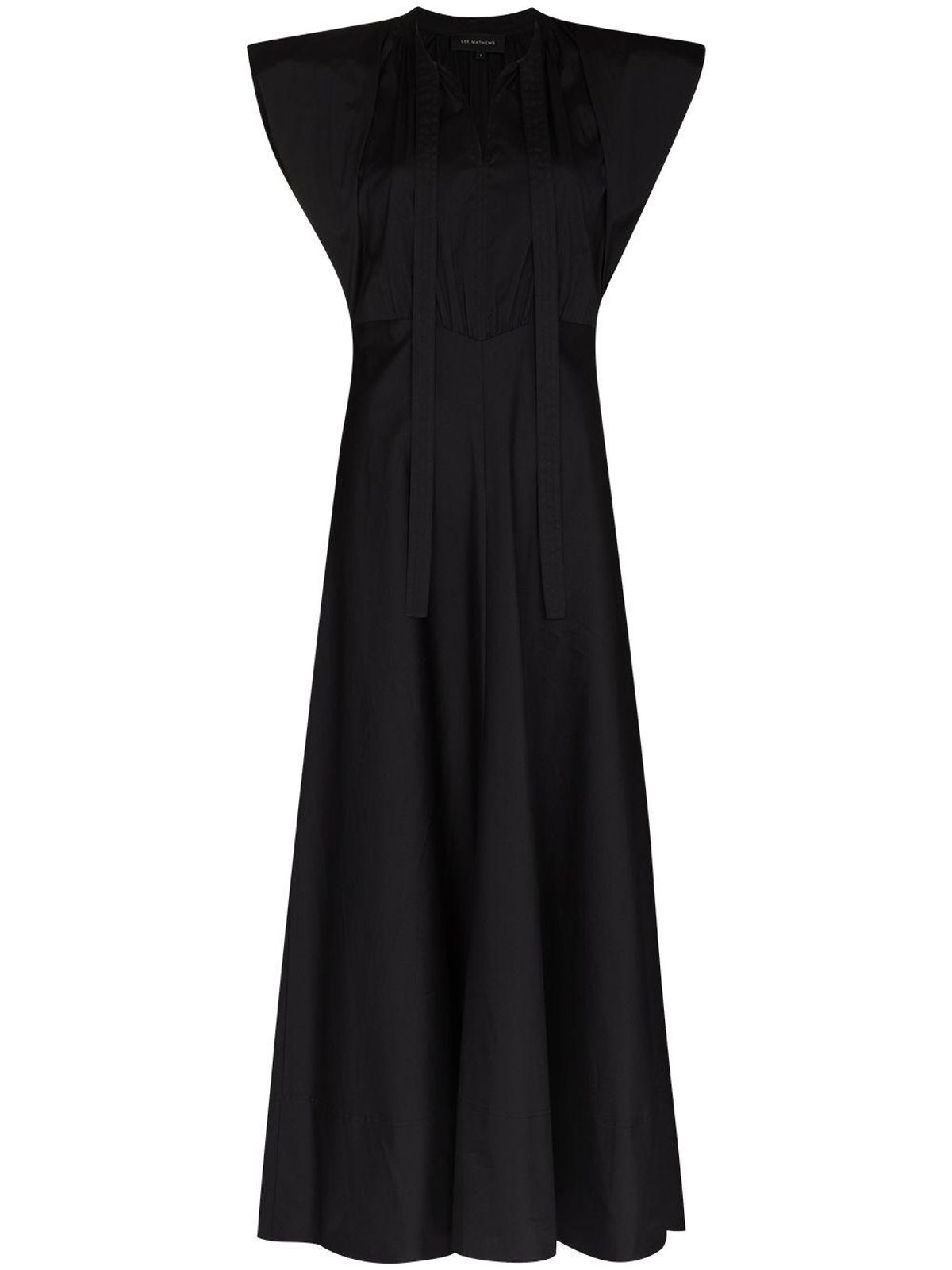 Maleo Tie-Neck Maxi Dress