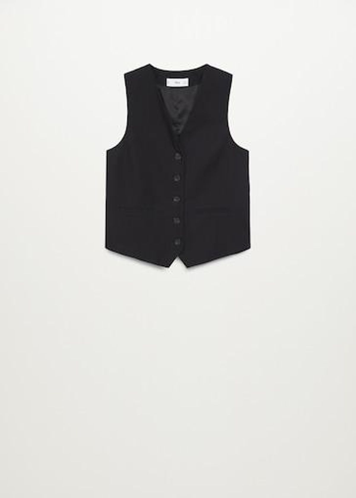 Fitted Vest with Buttons