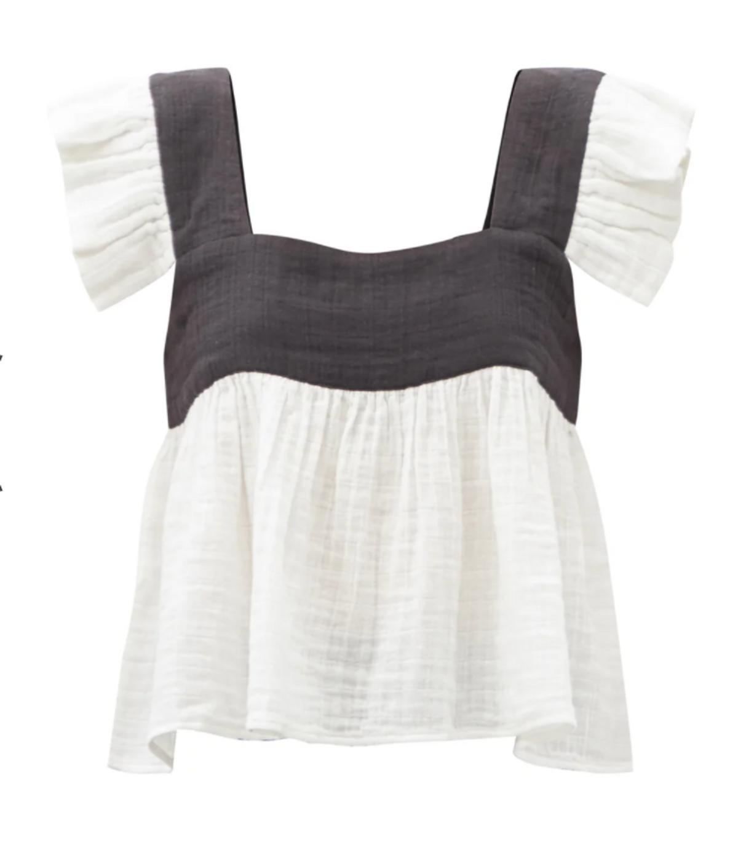 Cassi Ruffled Strap Cotton Top