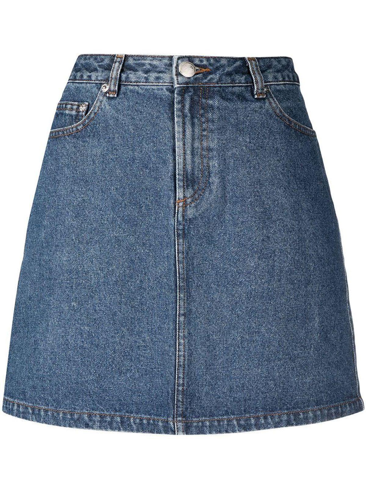 A-Line Cotton Denim Skirt