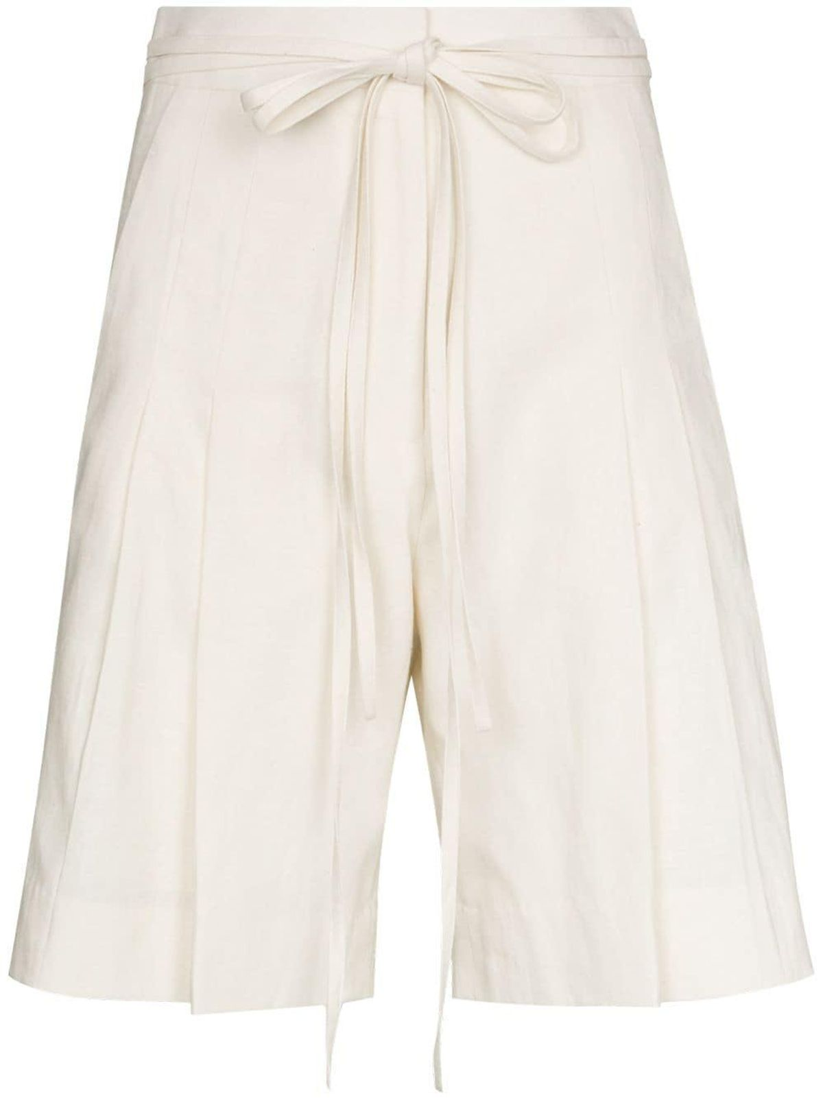 Tie Waisted Pleated Shorts