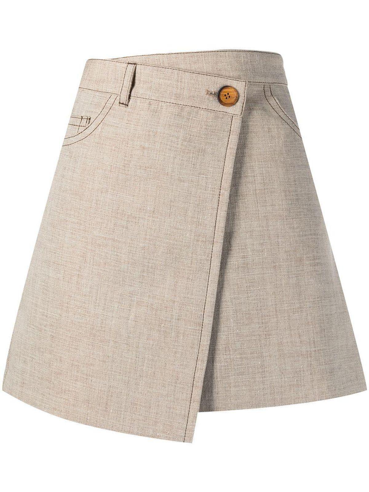 Wrap Short Skirt