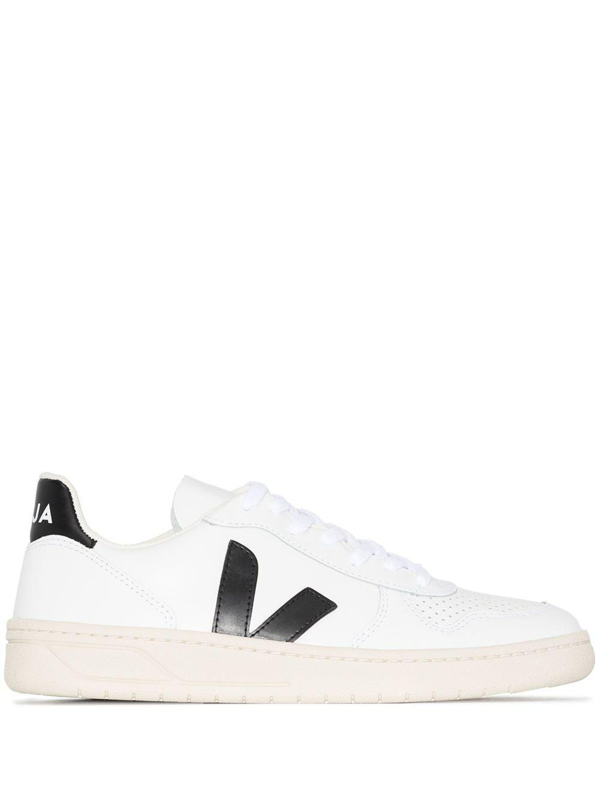 V-10 Leather Low-Top Sneakers