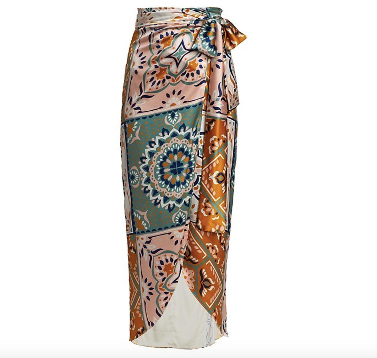Bonnan Patchwork Wraparound Skirt