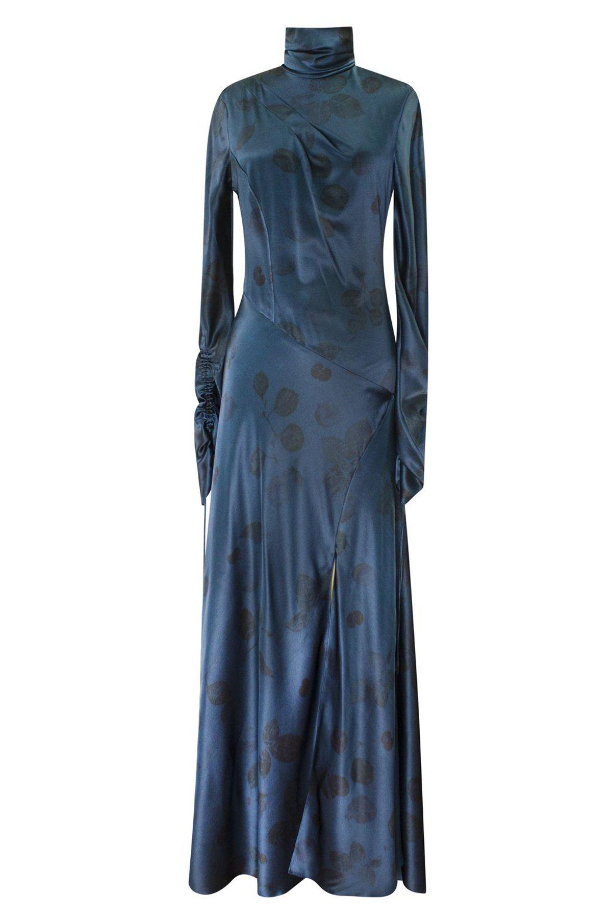 Oceano Floral Dyed Long Sleeve Dress
