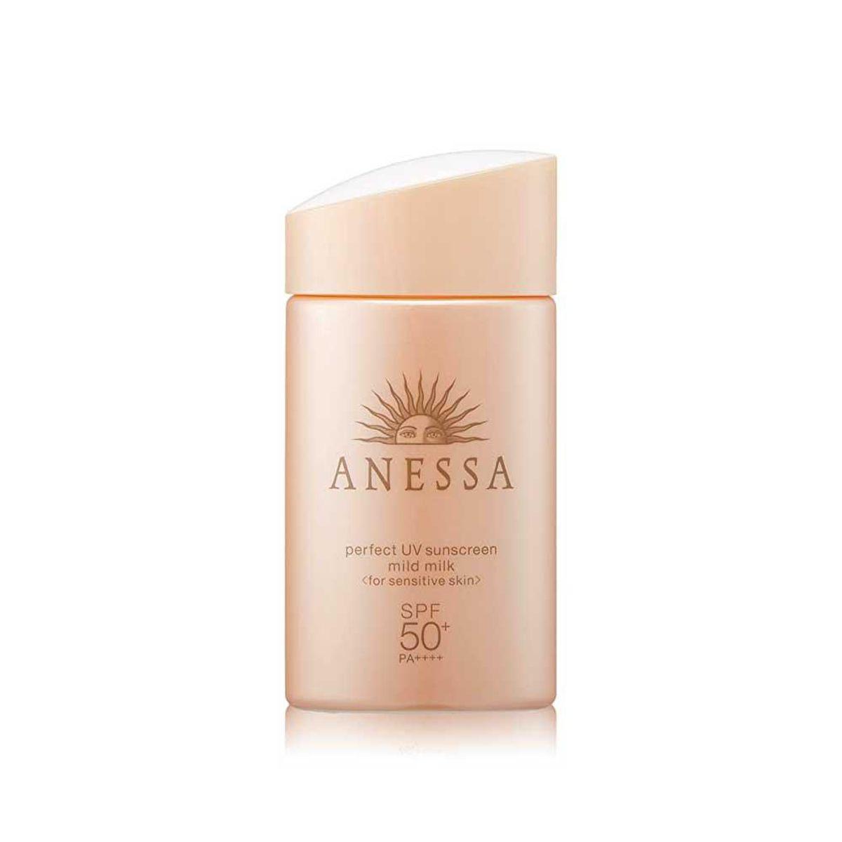 shiseido anessa perfect uv sunscreen mild milk a spf 50
