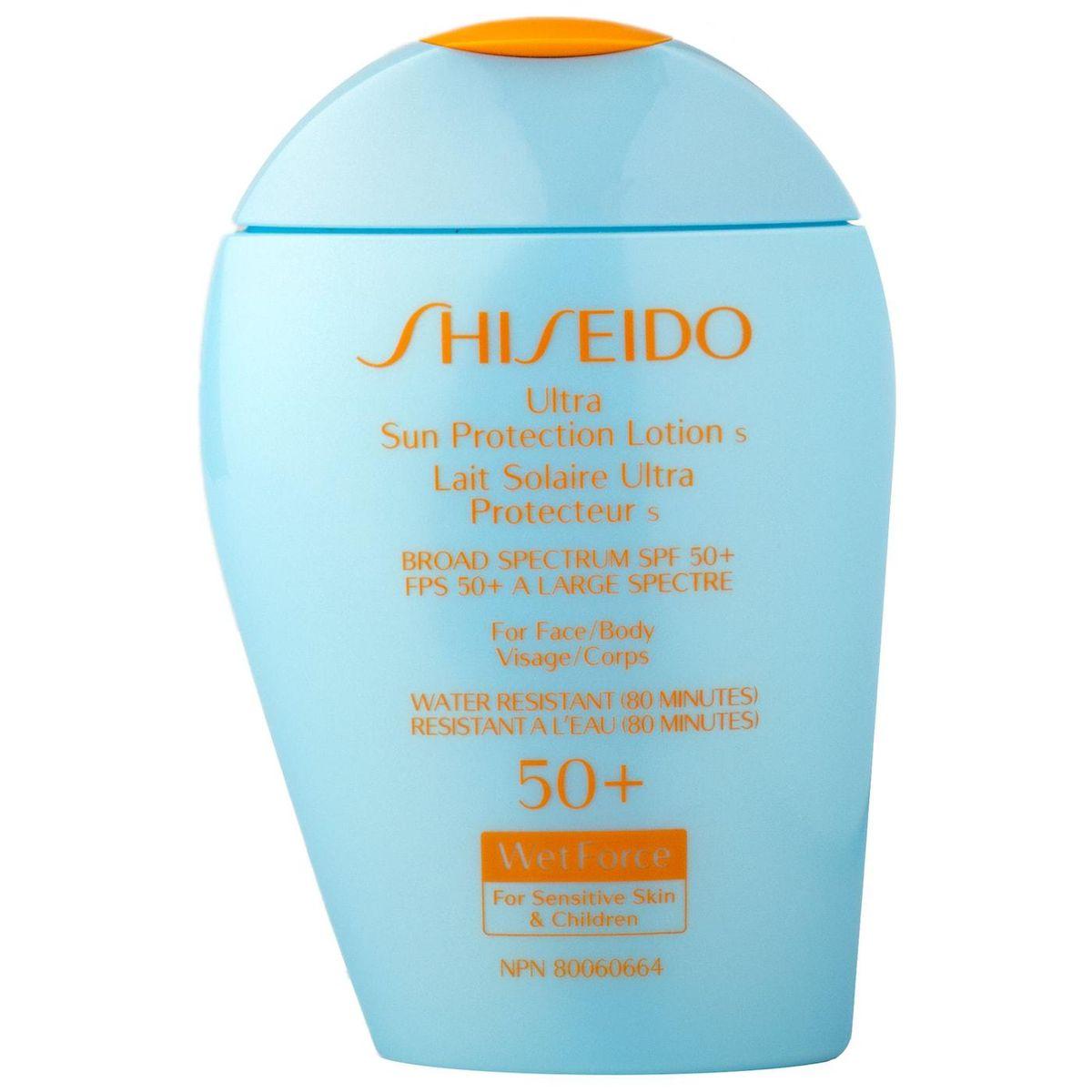 shiseido ultra sun protection lotion broad spectrum spf 50+ wetforce for sensitive skin and children