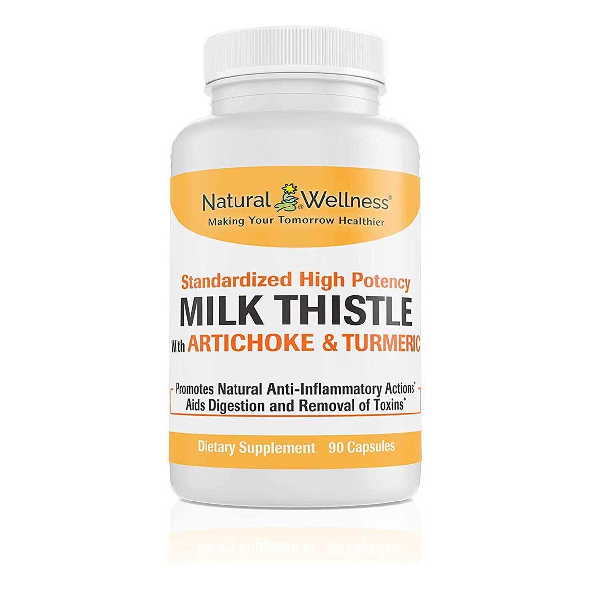 natural wellness milk thistle artichoke and turmeric