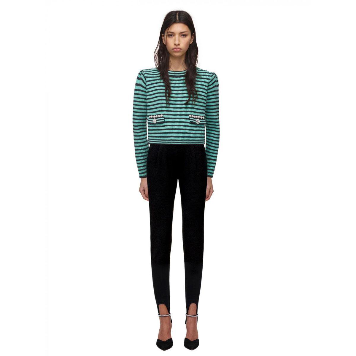 Green Melange Knit Jumper