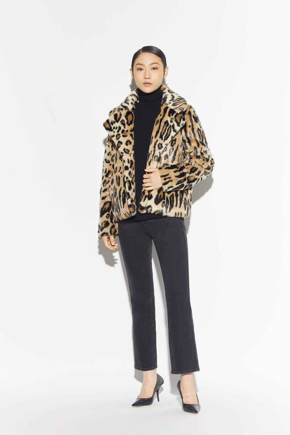 Gianna Leopard Oversized Coat