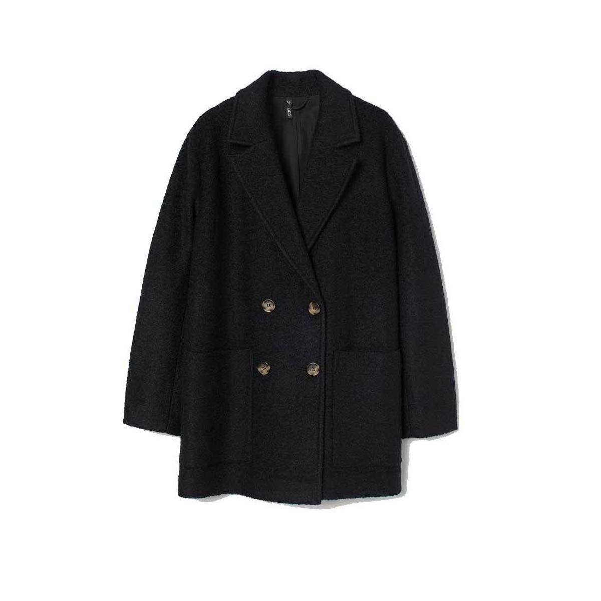 h and m wool blend coat
