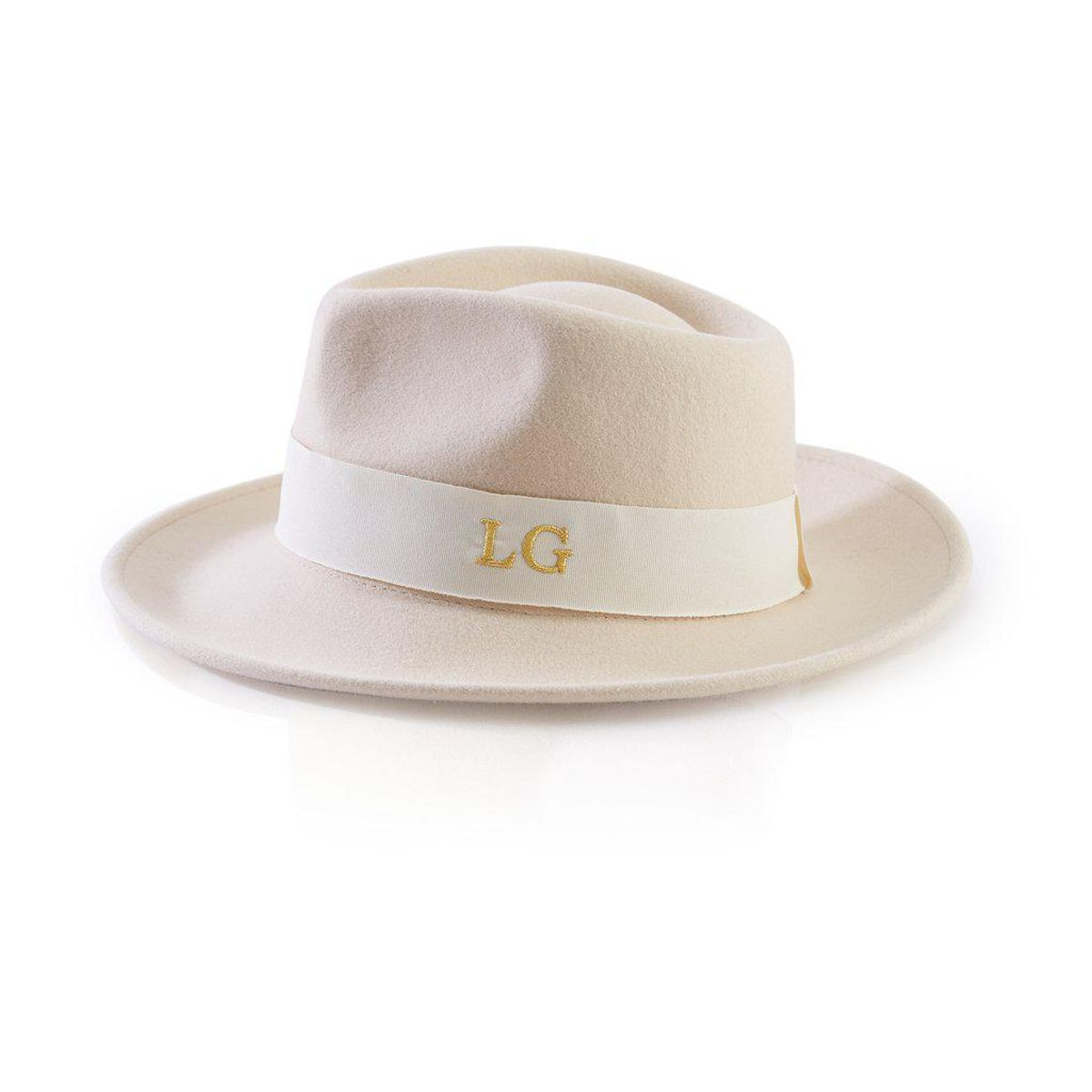 ha designs personalised wool felt fedora hat