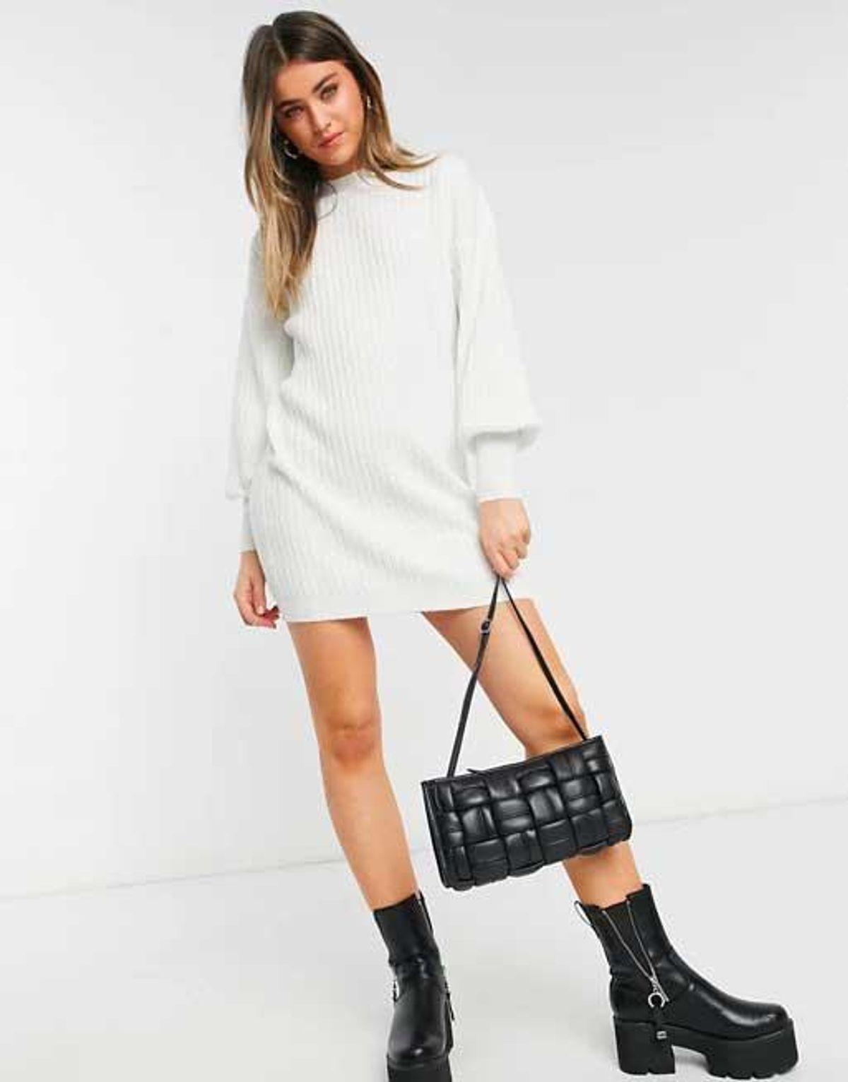 asos design mini rib dress