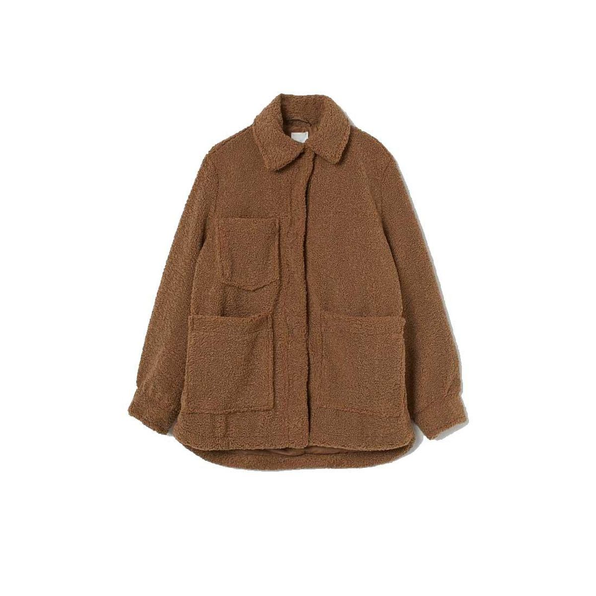 h and m faux shearling jacket