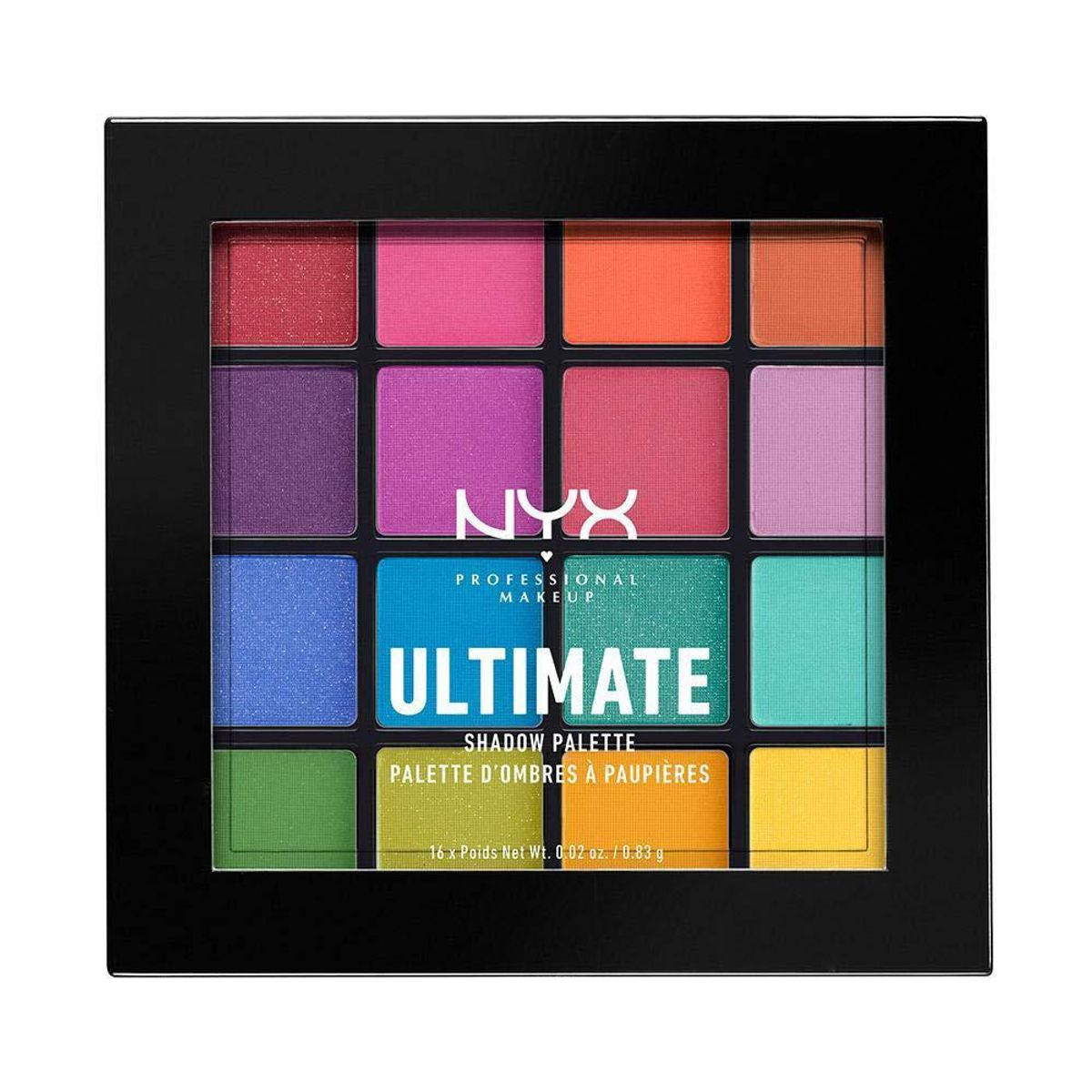 nyx professional makeup ultimate shadow palette eyeshadow palette brights