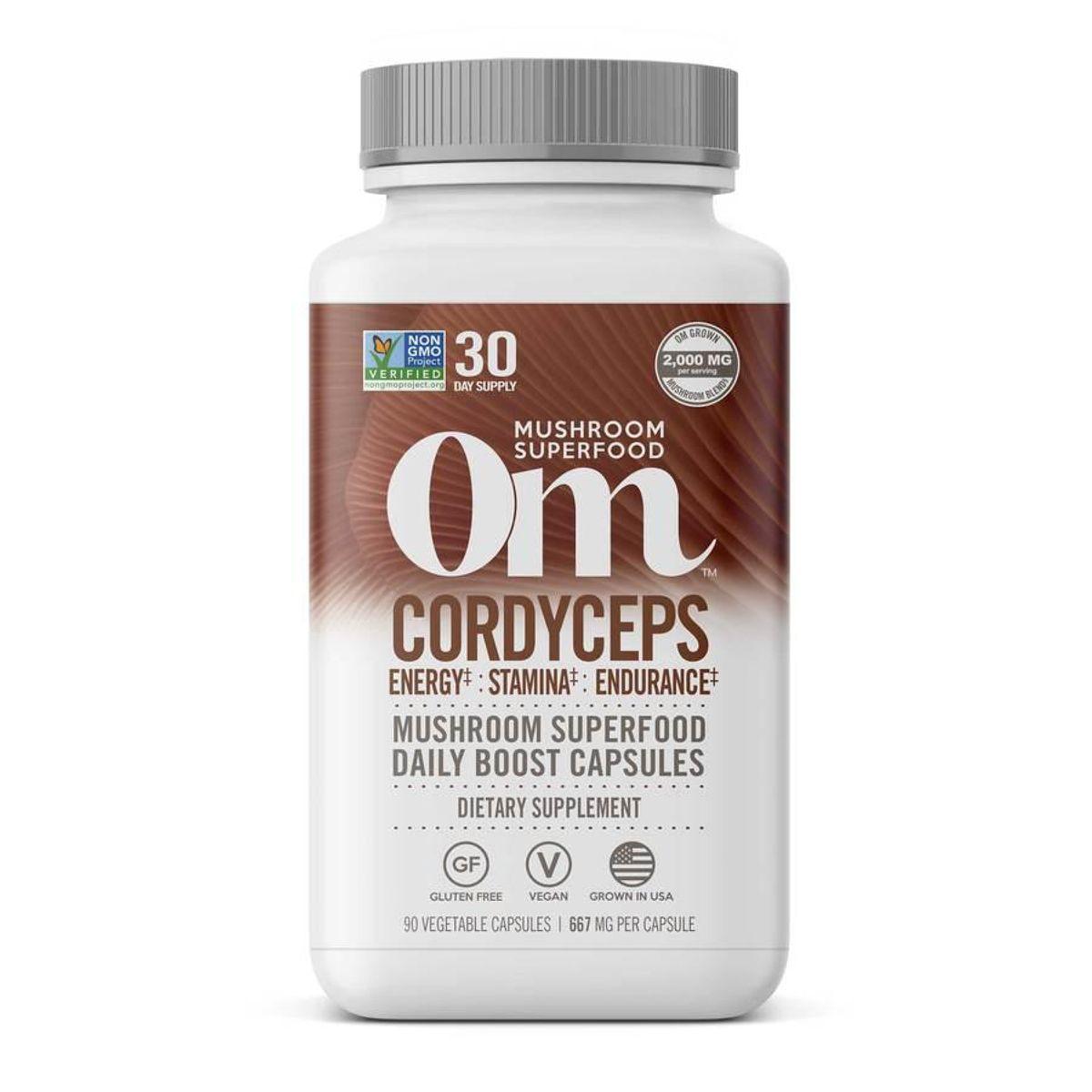 om mushrooms cordyceps mushroom capsules