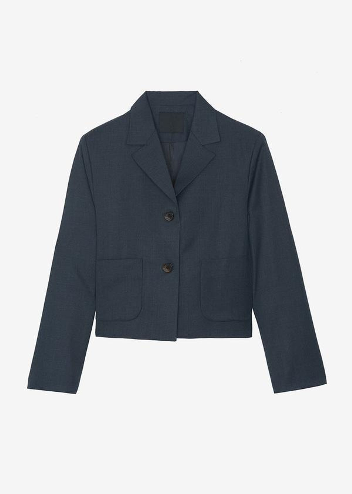 Cropped Suiting Jacket in Ink