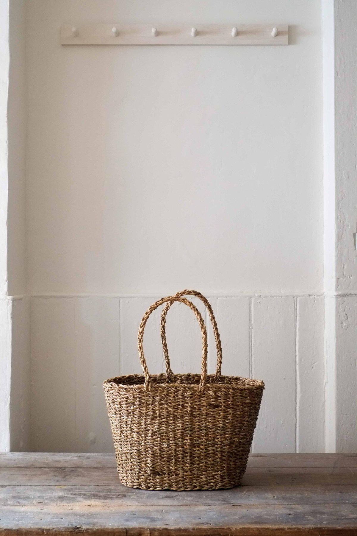 Straw Shopping Basket