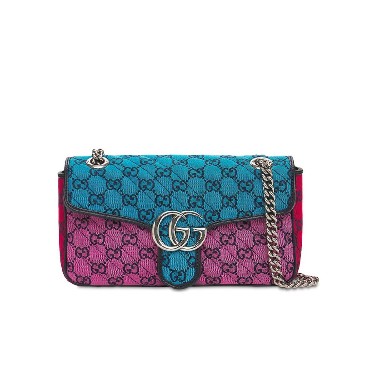 Small GG Marmont Multicolor Canvas Bag