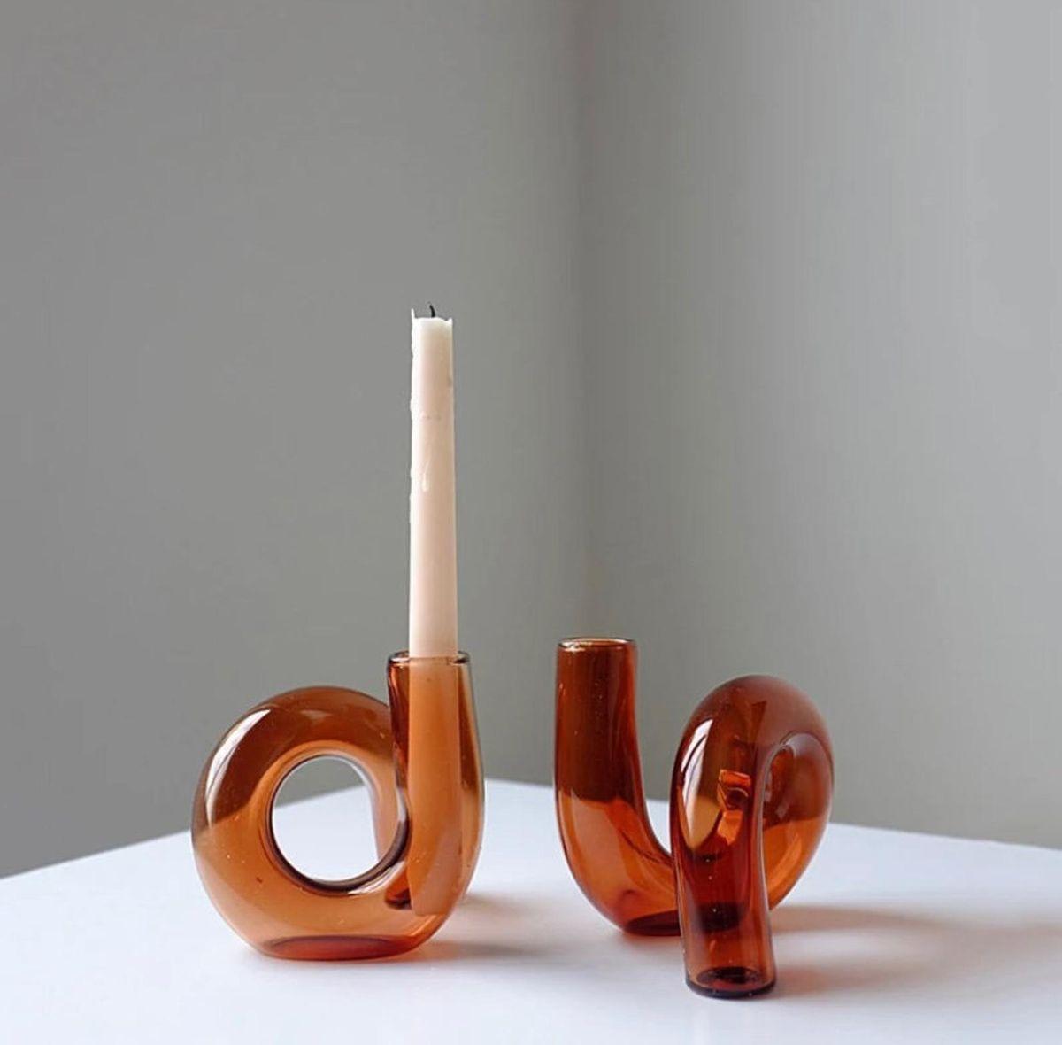 Mid Century Nordic Scandi Style Candleholder/Vase