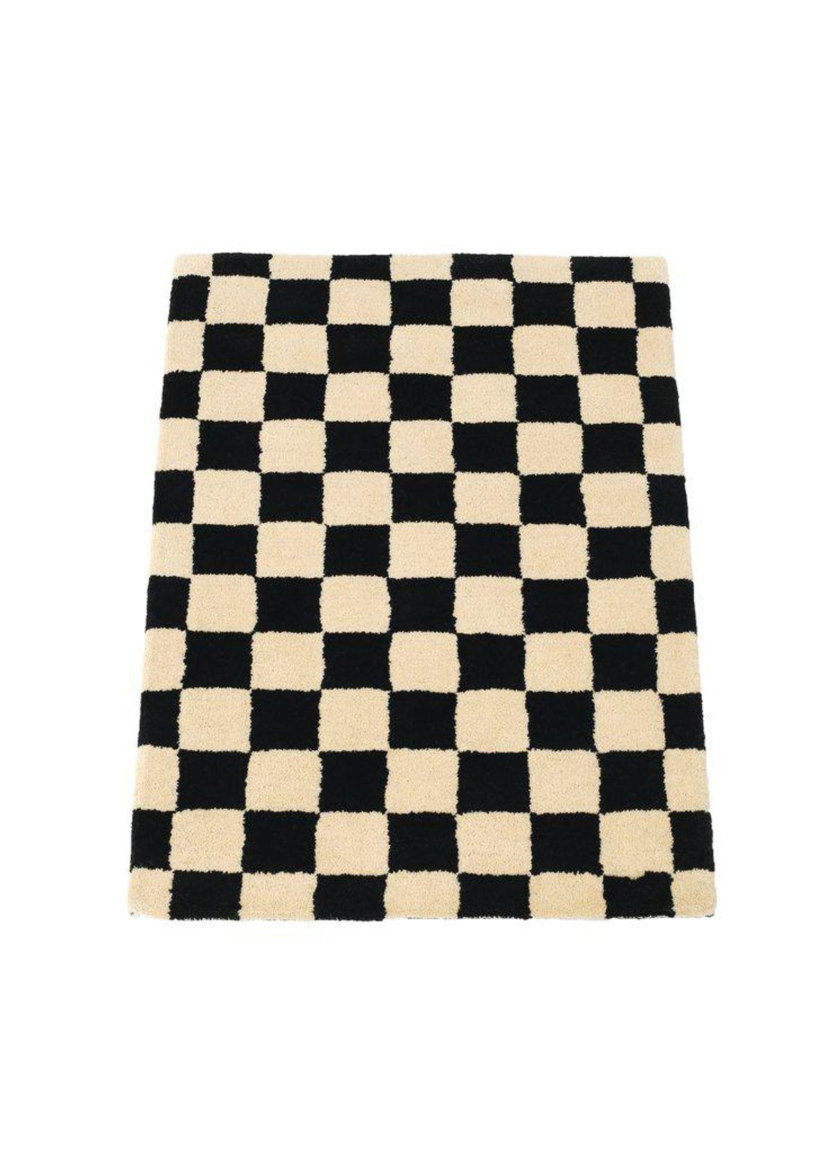 Black and Cream Mat 2' x 3'