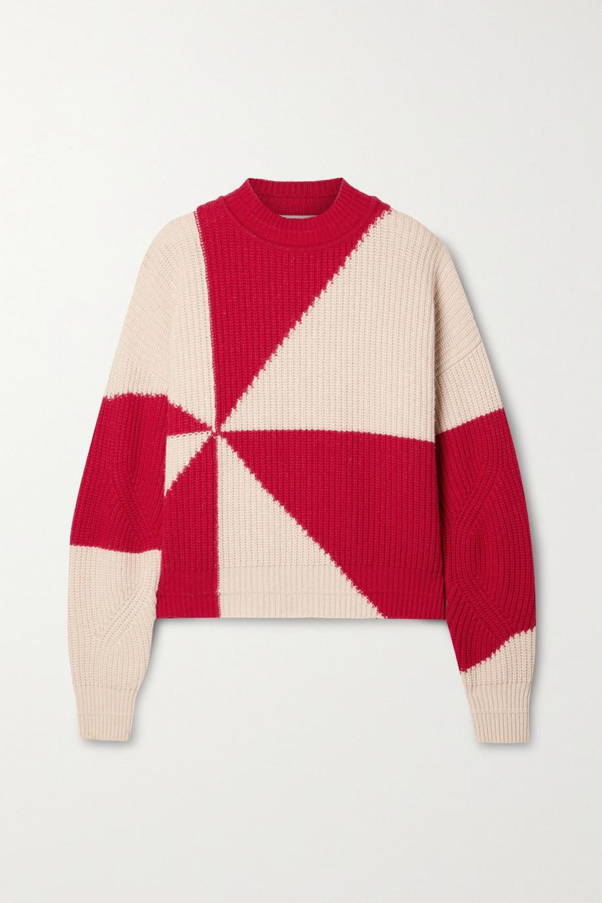 Jules Two-Tone Recycled Ribbed Knit Sweater